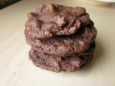 A stack of buttermilk chocolate chip cookies.