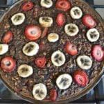 Chocolate Strawberry Banana Baked Oatmeal