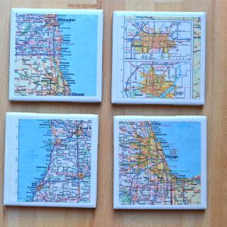 Map Tile Coasters