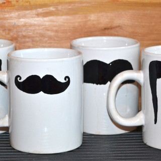 DIY Mustache Mugs and a Giveaway!