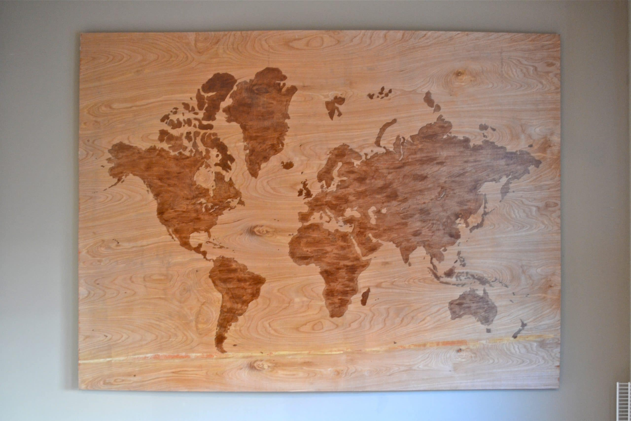 DIY Wooden World Map Art - A Dash of Megnut