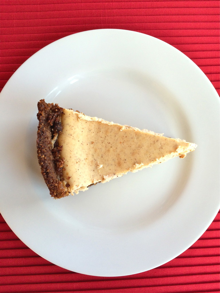 Pumpkin Pie Spice Cheesecake with Pecan Crust