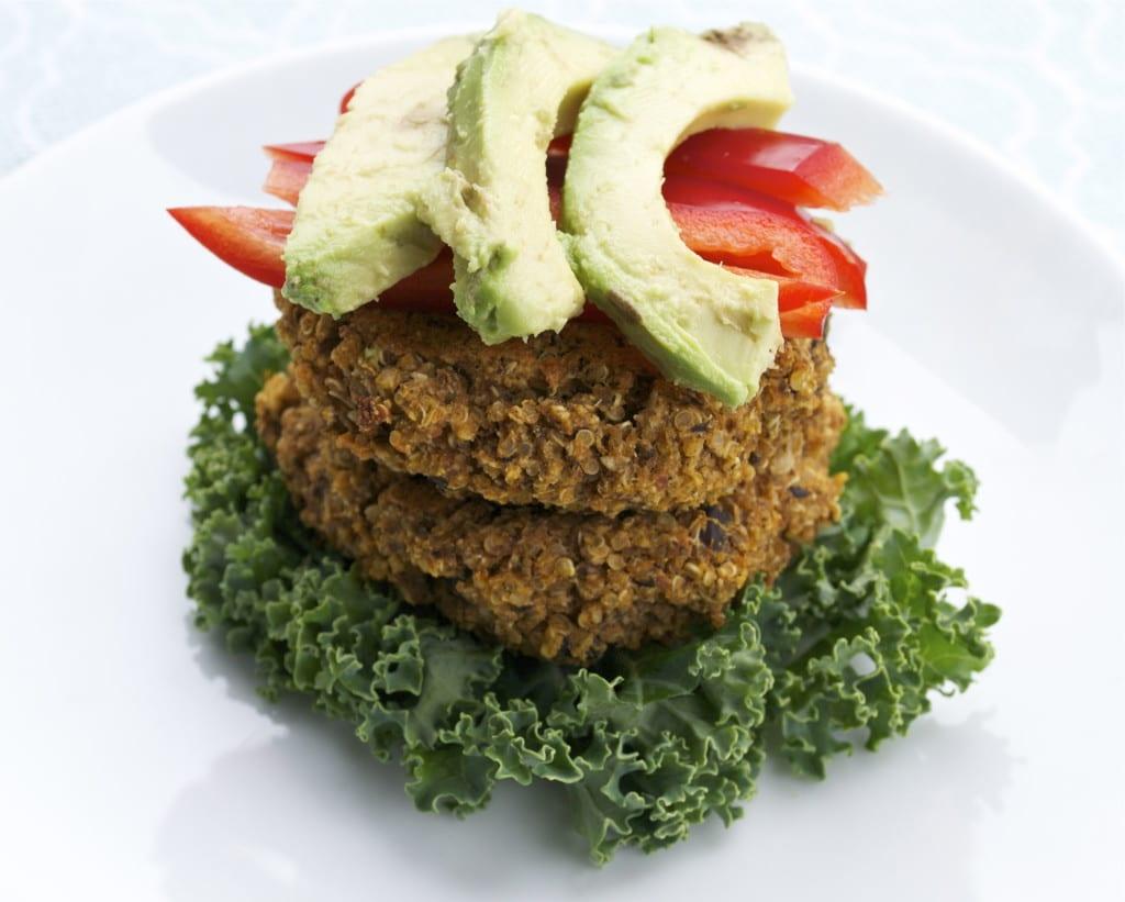 Sweet Potato Black Bean Quinoa Burger