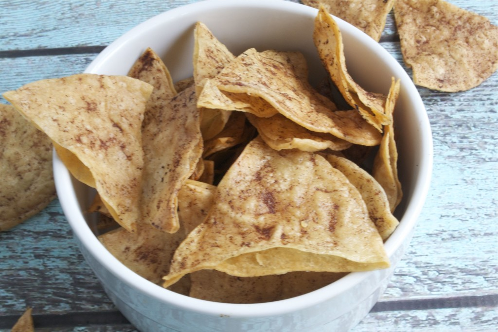 Sugar-Free Baked Cinnamon Tortilla Chips (GF, DF, SF, V)