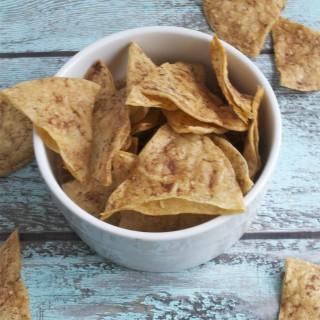 Sugar-Free Baked Cinnamon Tortilla Chips (GF, DF, SF, V)