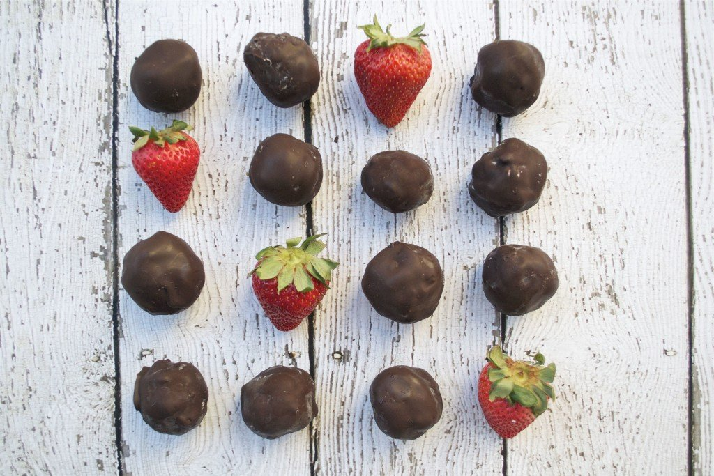 Chocolate Covered Strawberry Truffles (GF, DF, SF, V) | A Dash of Megnut
