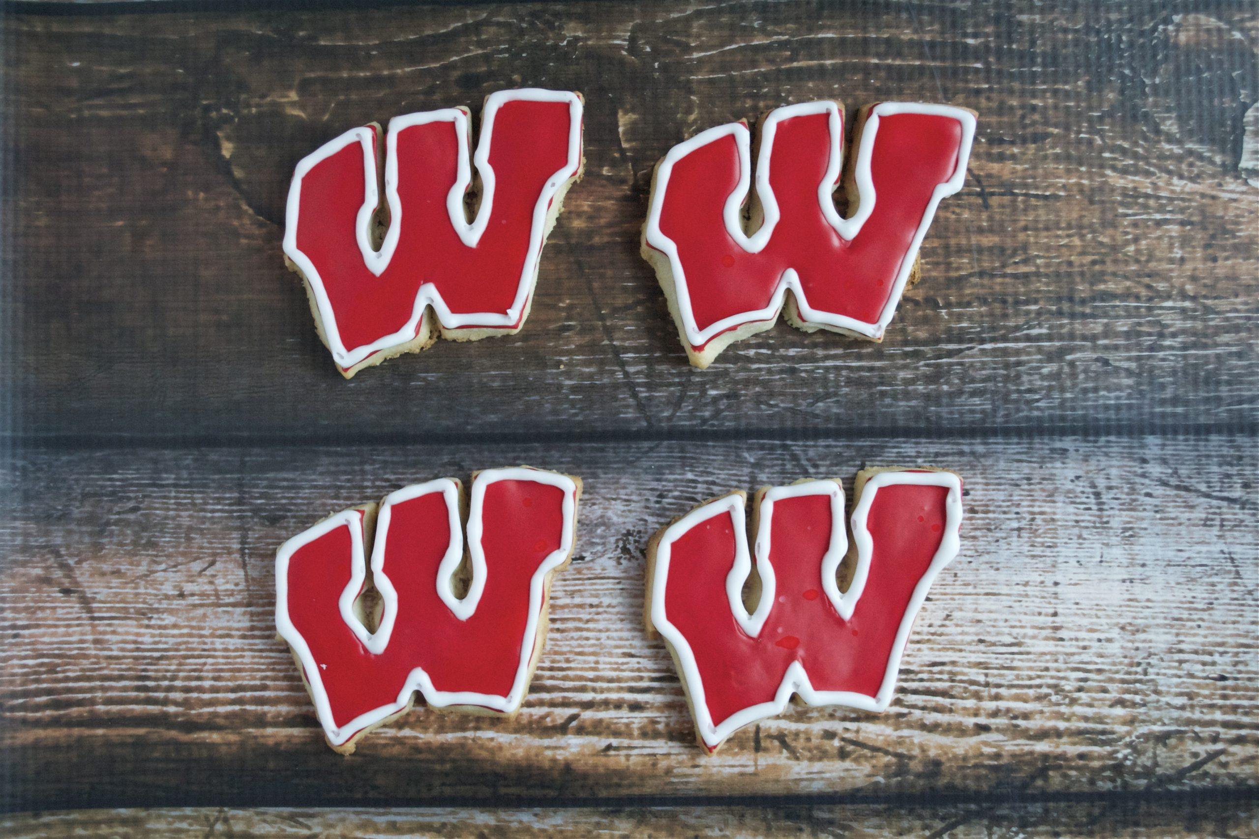 Gluten-Free Wisconsin Badgers Sugar Cookies