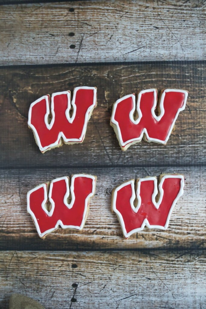 Gluten-Free Wisconsin Badgers Sugar Cookies