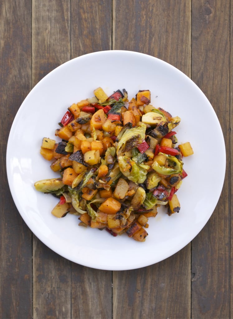 Rutabaga Sweet Potato Hash (GF, V, SF, DF)