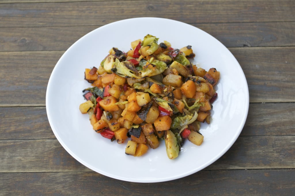 Rutabaga Sweet Potato Hash (GF, DF, V, SF)