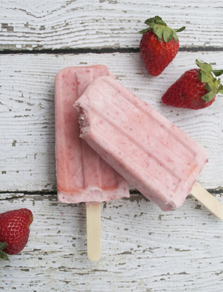 Strawberries and Cream Popsicles (GF, DF, SF, V)
