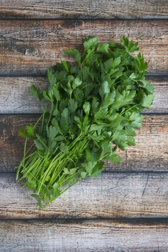 Vegan Parsley Walnut Pesto - A Dash of Megnut