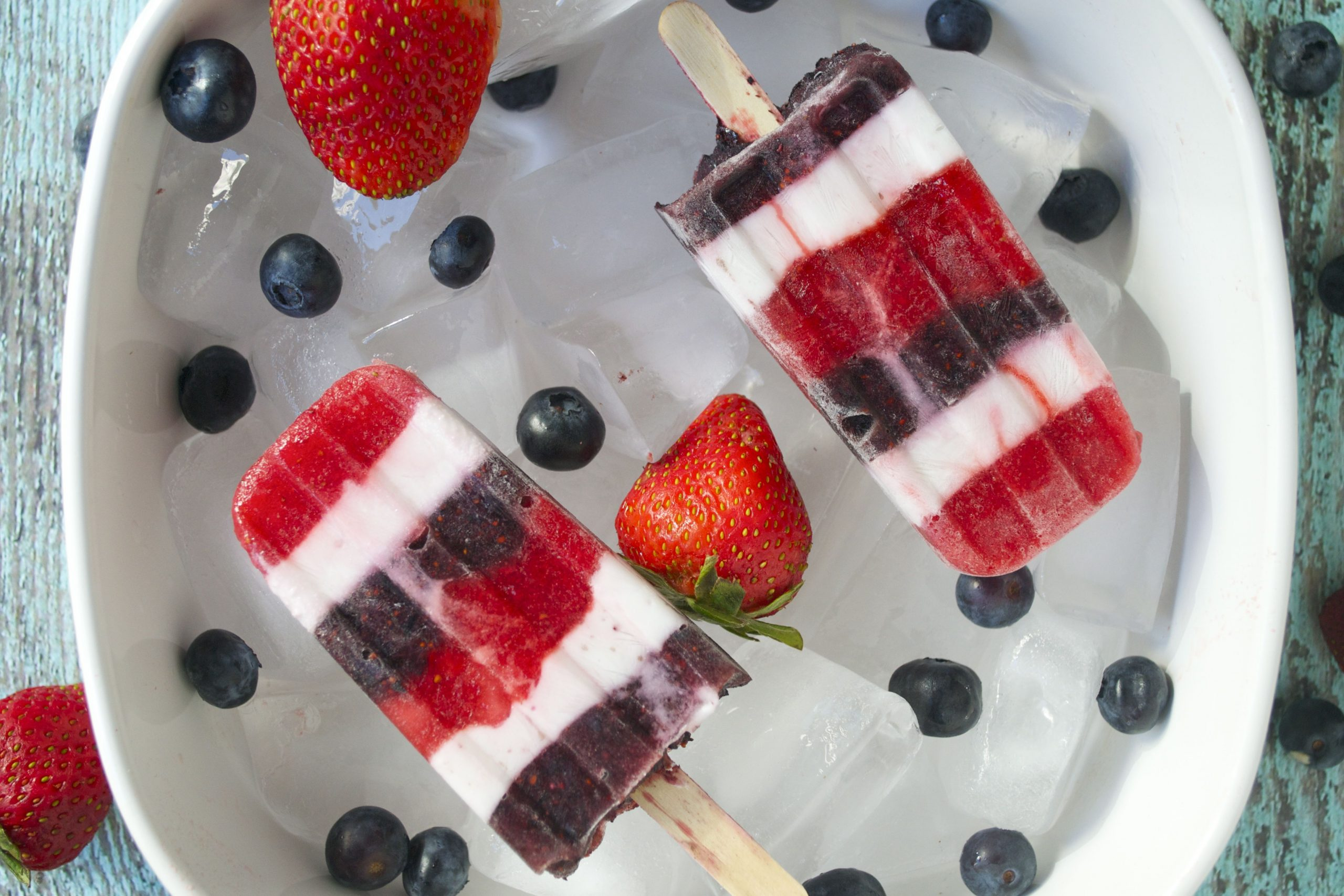 Red, White and Blueberry Popsicles (GF, DF, SF, V) - A Dash of Megnut