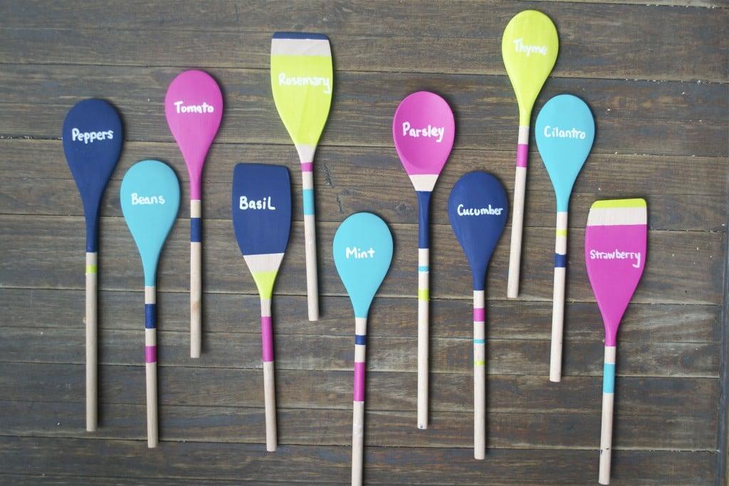 DIY Wooden Spoon Garden Markers - A Dash of Megnut