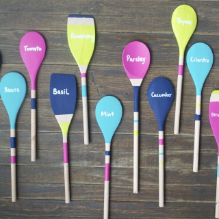 DIY Wooden Spoon Garden Markers - A Dash of Megnut