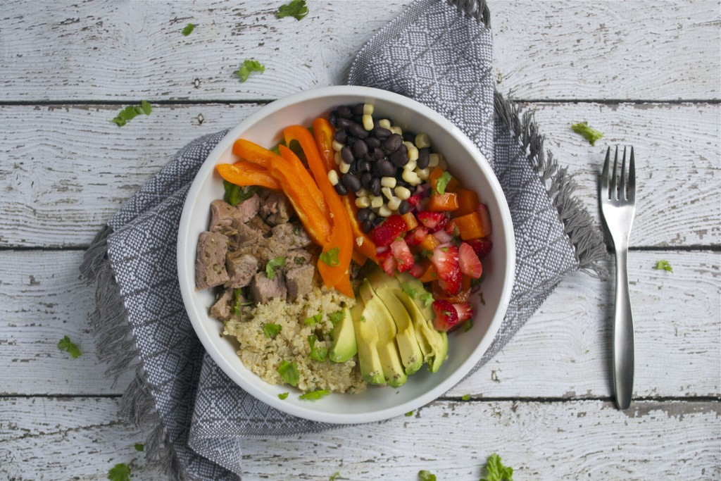 Steak and Quinoa Burrito Bowl (GF, DF, SF) - A Dash of Megnut