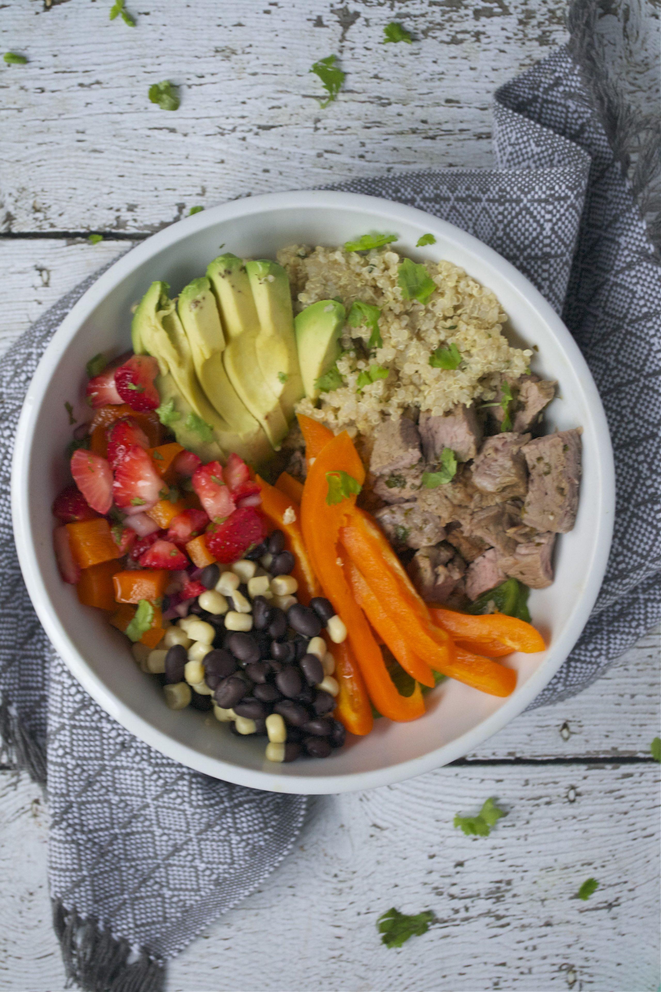 Steak and Quinoa Burrito Bowl (GF, DF, SF) - A Dash of Megnut