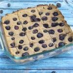 Coconut Flour Blueberry Bars (GF, DF, V, RSF) - A Dash of Megnut