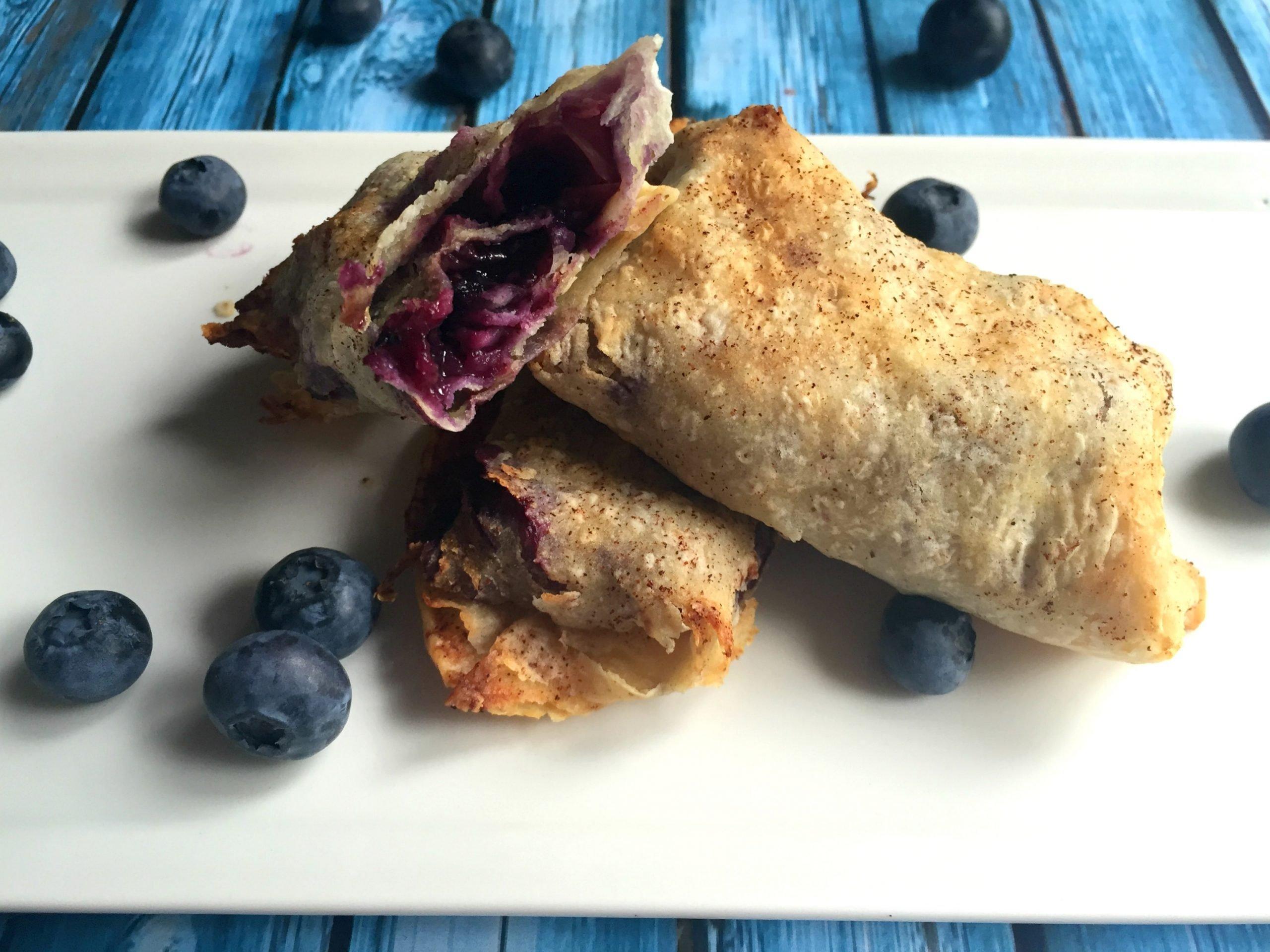 Blueberry Tortilla Pockets (GF, DF, V, RSF) - A Dash of Megnut