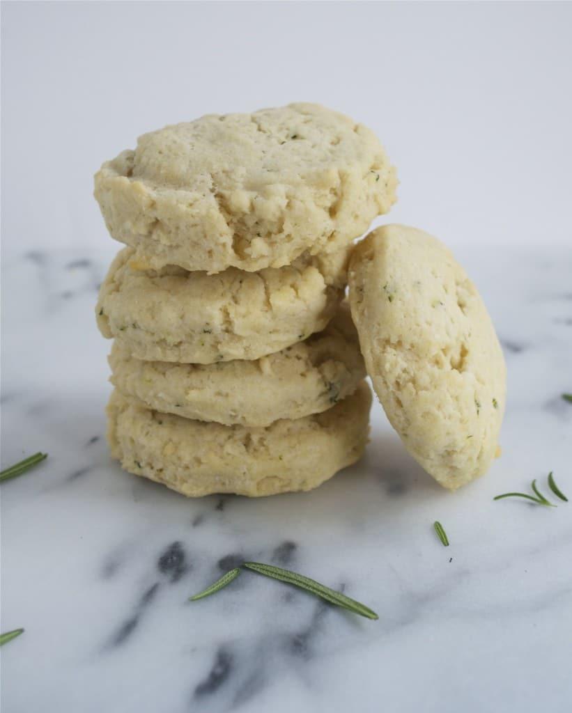 Vegan Rosemary Biscuits (GF, DF, V, SF) - A Dash of Megnut