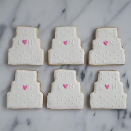 Wedding Cake Sugar Cookies A Dash Of Megnut