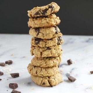 Vegan Peanut Butter Chocolate Chunk Cookies (GF, DF, V, RSF) - A Dash of Megnut
