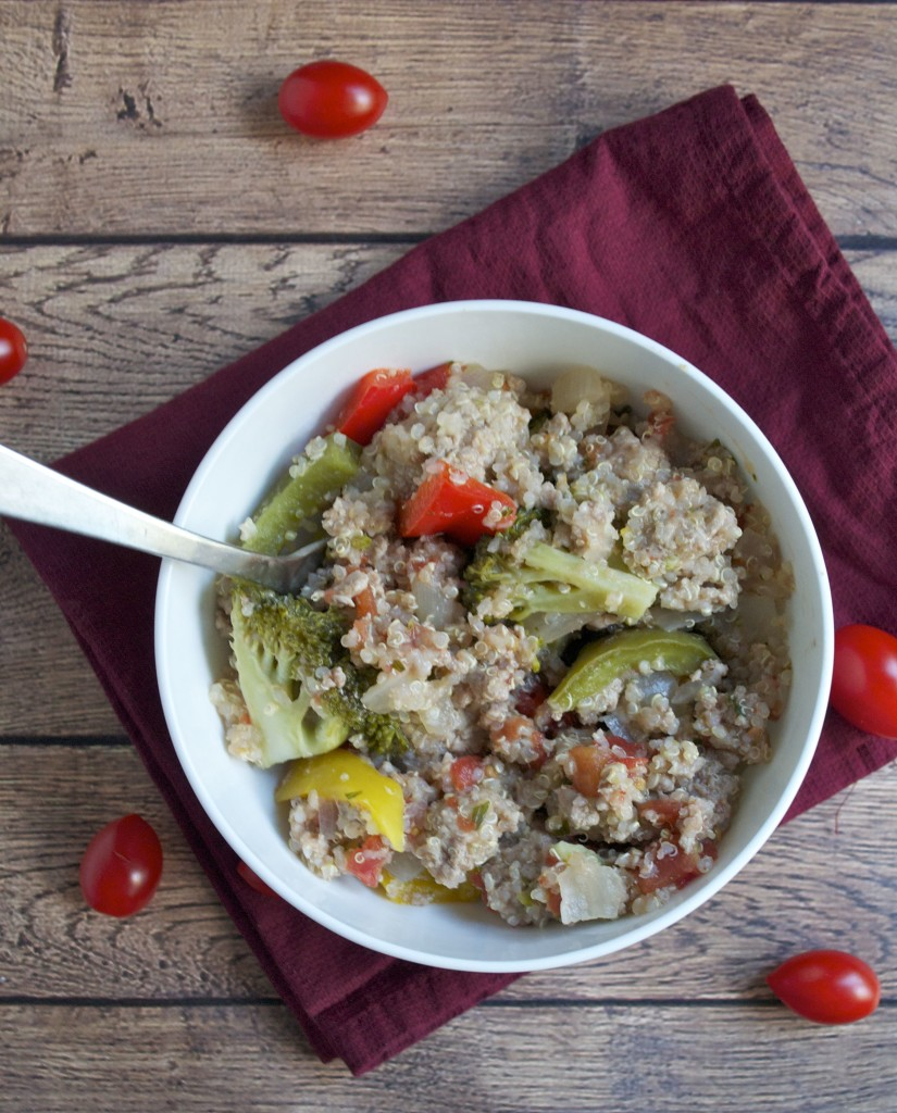 Turkey Quinoa Vegeteable Skillet (GF, DF) - A Dash of Megnut