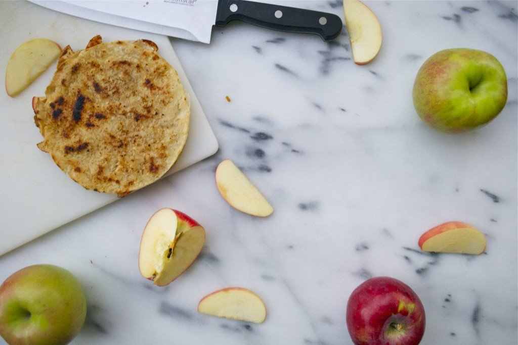 Pumpkin Apple Quesadillas (GF, DF, RSF, V) - A Dash of Megnut