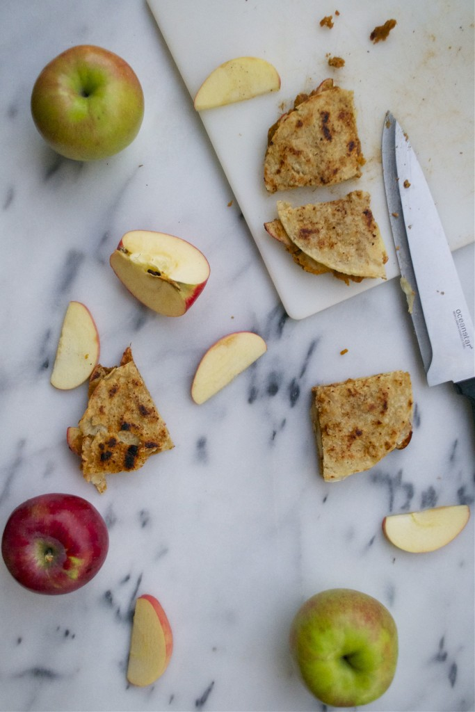 Pumpkin Apple Quesadillas (GF, DF, RSF, V) - A Dash of Megnut