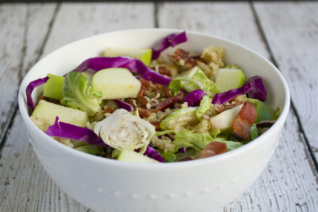 Fall Apple Brussels Sprout Salad + #BillionDinners - A Dash of Megnut