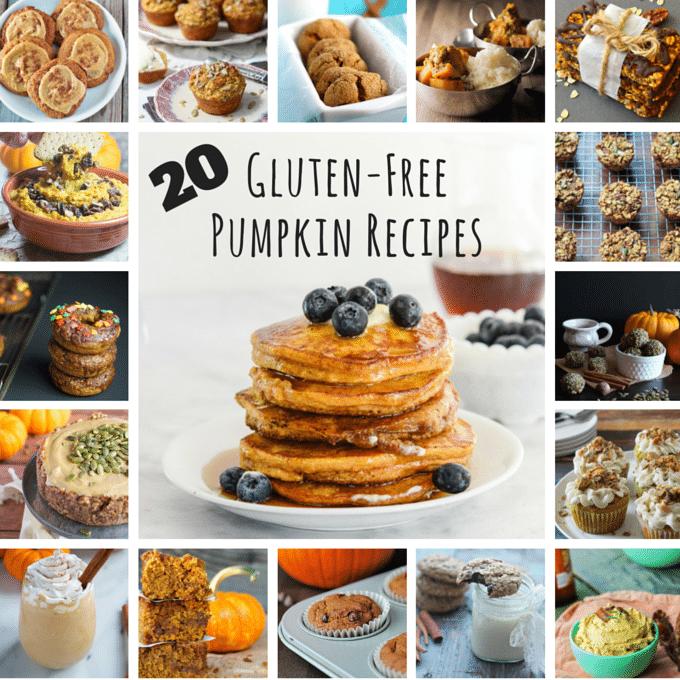 A collage of gluten-free pumpkin recipes.