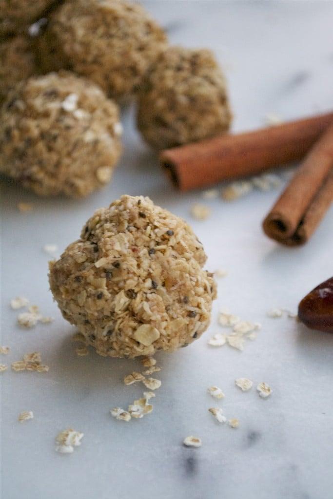 Chai Coconut Date Energy Balls (GF, DF, V, RSF) - A Dash of Megnut