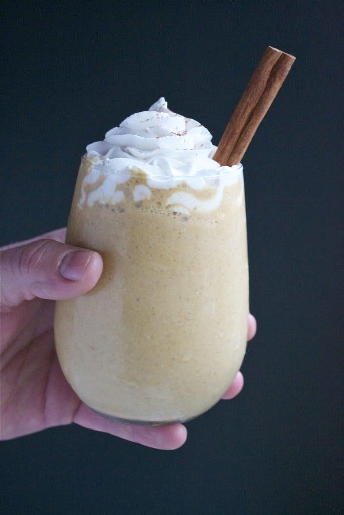 Vegan Pumpkin Spice Latte Milkshake (GF, DF, V) - A Dash of Megnut