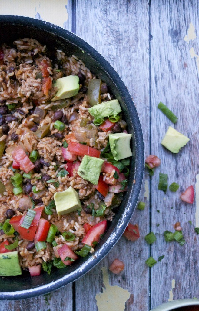 Mexican Turkey and Rice Skillet (GF, DF) - A Dash of Megnut