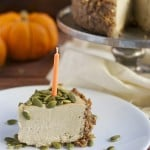 Vegan Pumpkin Cheesecake (GF, DF, V, RSF) - A Dash of Megnut