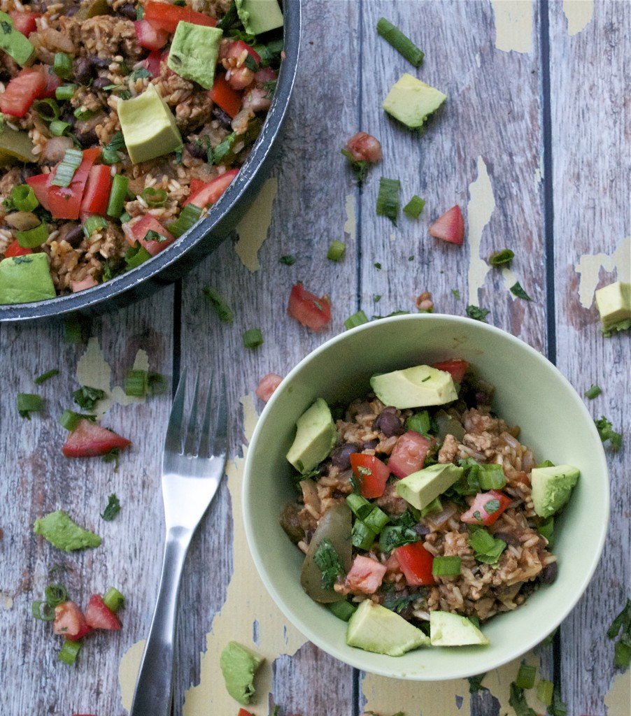 Mexican Turkey and Rice Skillet (GF, DF) - A Dash of Megnut