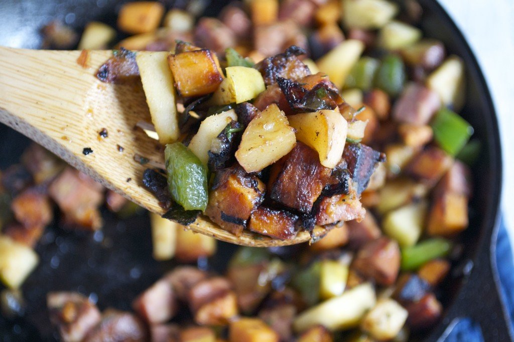 Sausage and Apple Breakfast Hash (GF, DF) - A Dash of Megnut