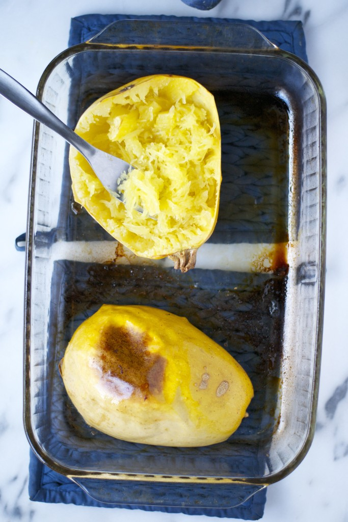 How to: Roast Spaghetti Squash (GF, DF, V) - A Dash of Megnut