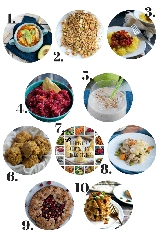 November - In a Nutshell - 10+ Gluten-Free Recipes including chicken tortilla soup, cranberry salsa, sweet potato biscuits and MORE!
