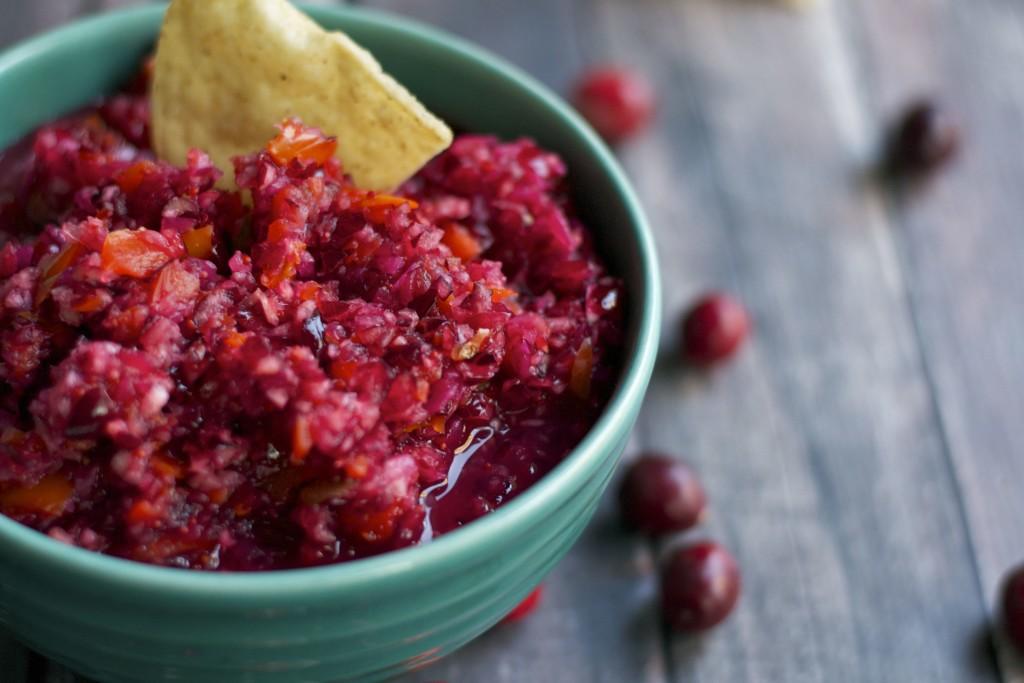 Cranberry Jalapeño Salsa (GF, DF, V, RSF) - A Dash of Megnut