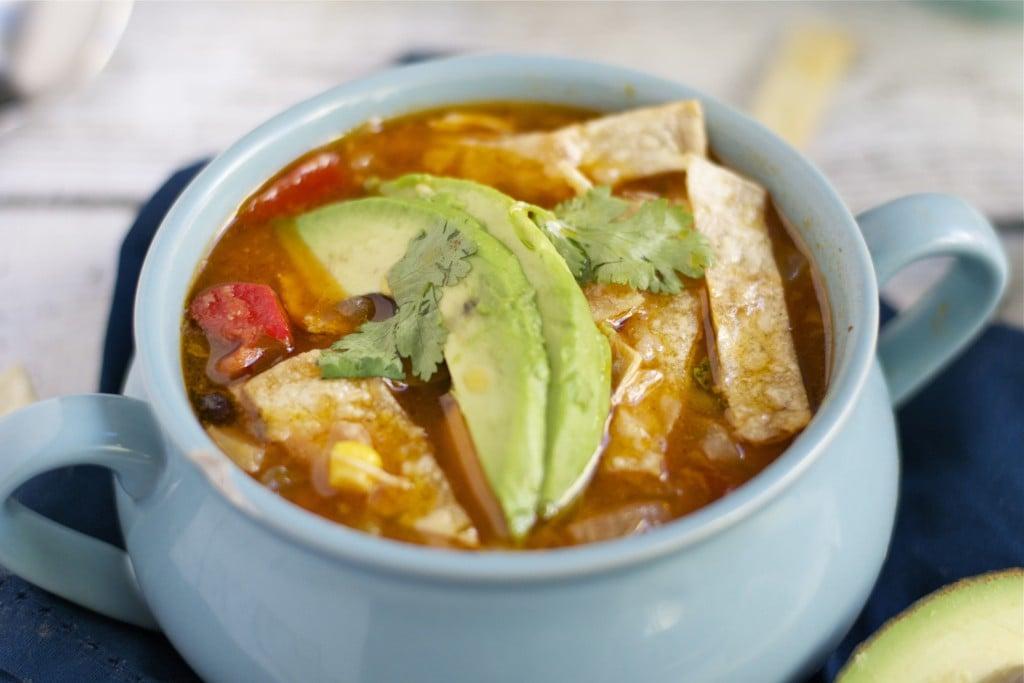Crock-pot Chicken Tortilla Soup (GF, DF) - A Dash of Megnut