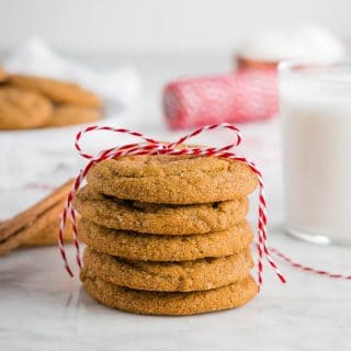 Chewy Ginger Molasses Cookies – Gluten-Free and Vegan
