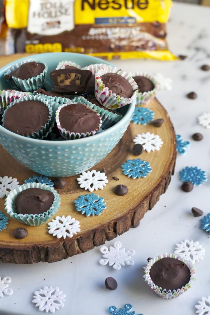 Chocolate Cookie Dough Cups (GF) - A Dash of Megnut