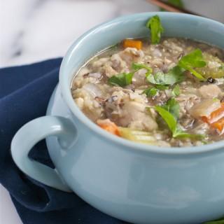 Crockpot Chicken and Rice Soup (GF, DF) - A Dash of Megnut