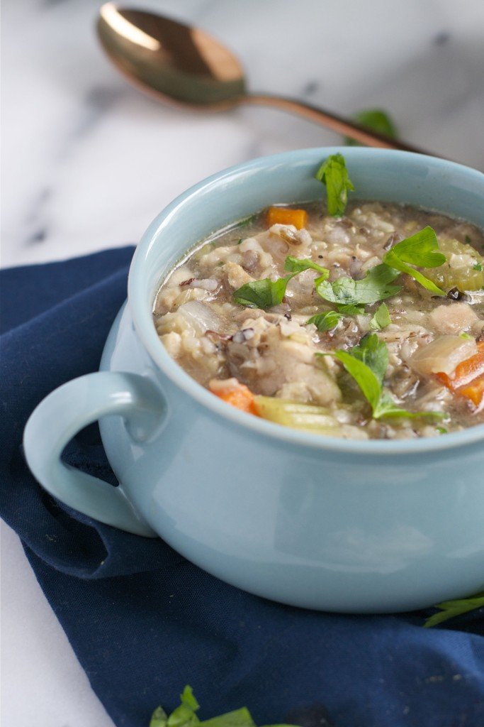 Crockpot Chicken and Rice Soup (GF, DF) - A Dash of Megnut