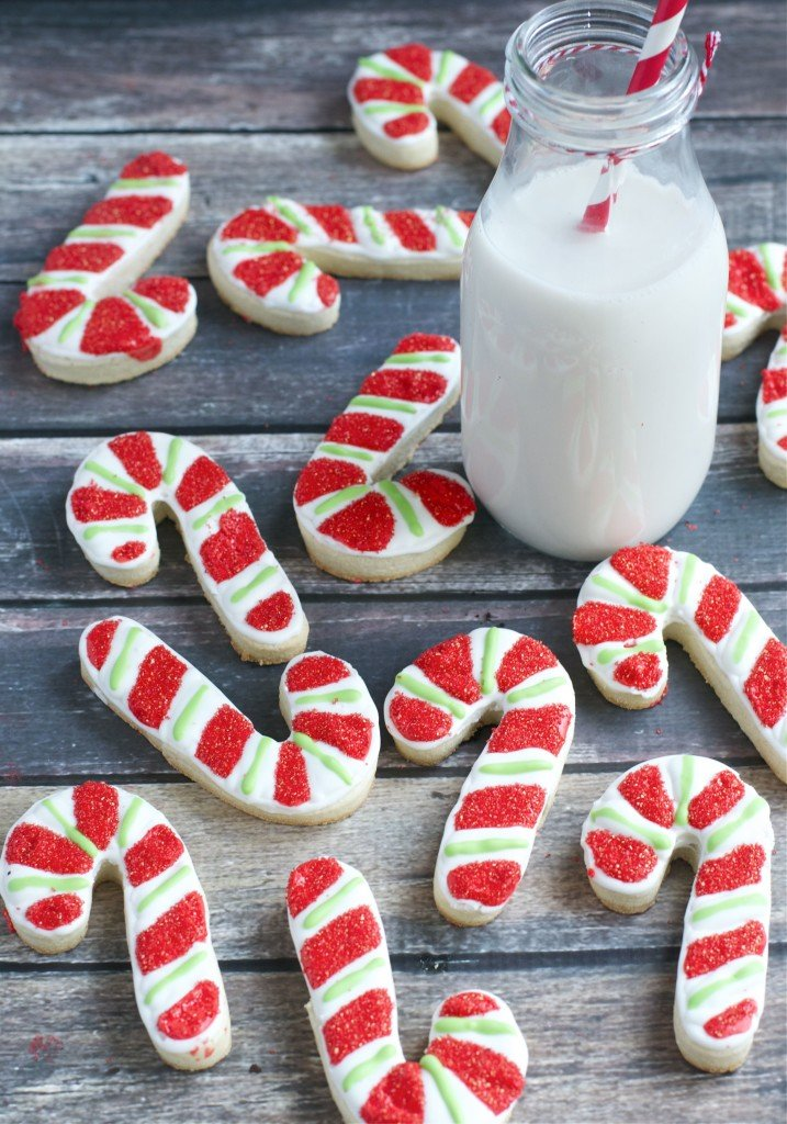 Gluten-Free Peppermint Candy Cane Sugar Cookies - A Dash of Megnut
