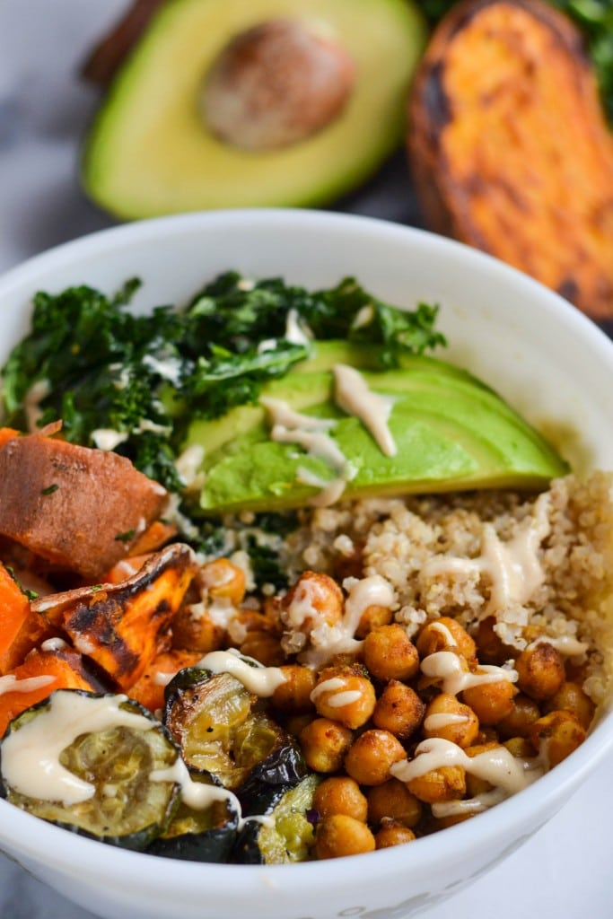 Curried Chickpea and Sweet Potato Quinoa Power Bowl (GF, DF, V) - A Dash of Megnut