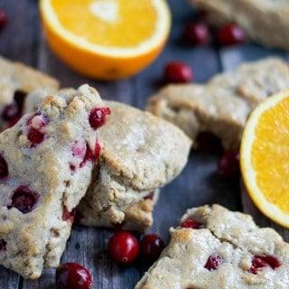 Vegan Orange Cranberry Scones (GF, DF, V) - A Dash of Megnut