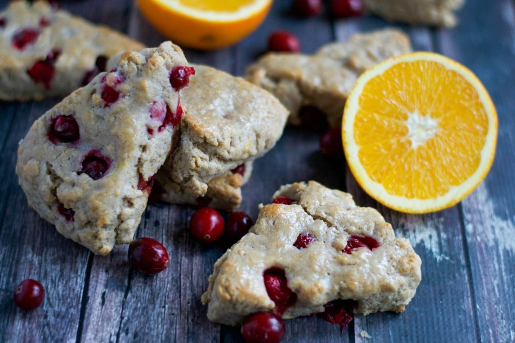 Vegan Orange Cranberry Scones (GF, DF, V) - A Dash of Megnut