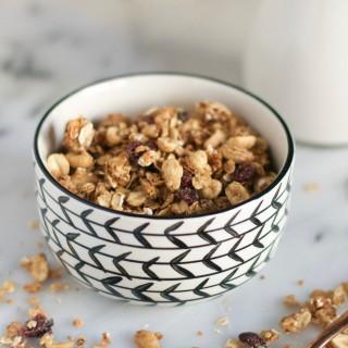 Peanut Butter and Jelly Granola (GF, DF, V) - A Dash of Megnut